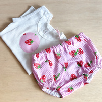 Singlet & Pants Set - Strawberry