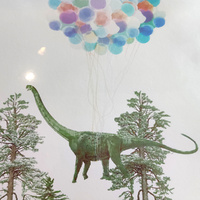 Art Print A4 - Flying Diplodocus