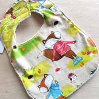 Large Bib - Woodland Fox