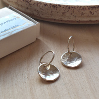 Earrings - Sterling Silver Domed Discs Medium