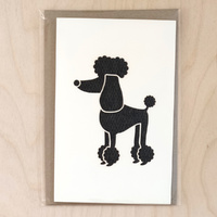 Card - Poodle - Black Texture