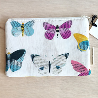 Small Makeup Pouch - Butterflies