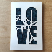 Card - LOVE - Teal Knit